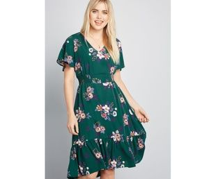 Modcloth Through and Through Floral Dress in 1x